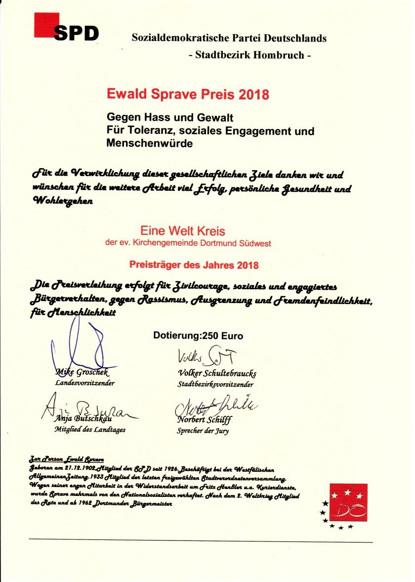 E-Sprave-Preis-Urkunde