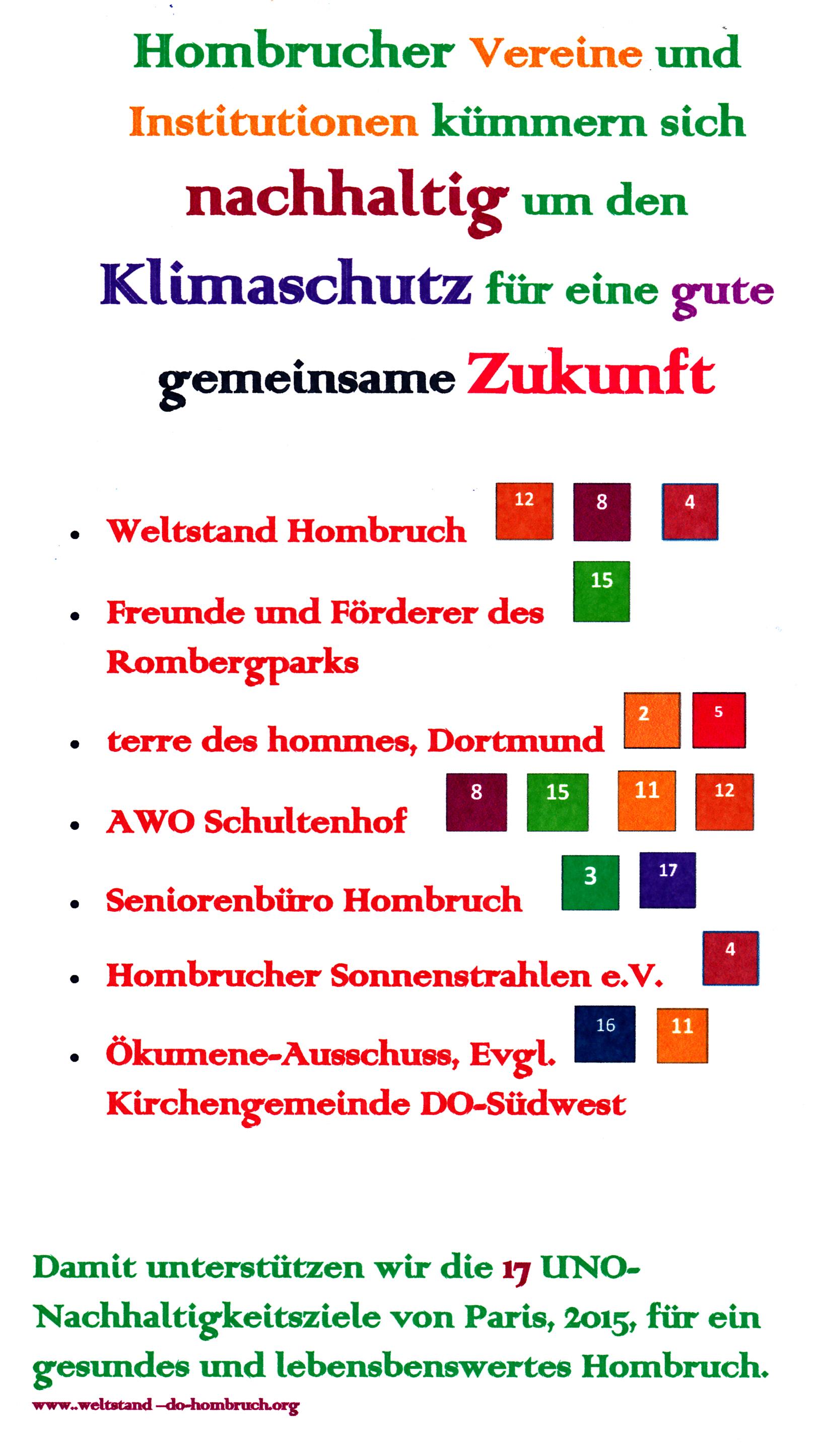 SDG der Hombrucher Vereine